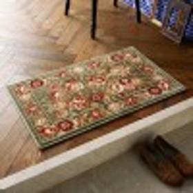 シルクタッチのフラワー柄ウィルトン織玄関マット