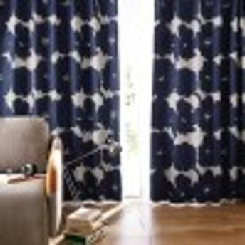 【99サイズ】モダンなフラワー柄の遮光カーテン