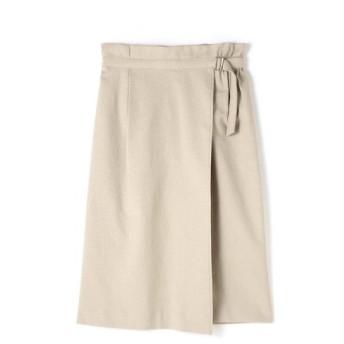 NATURAL BEAUTY / 麻混アシンメトリーラップスカート
