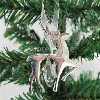 ハロウィン クリスマス ハンガー クリスマスツリー パーティー 装飾 工芸品 全12柄 - シルバー, 7 x 5センチメートル
