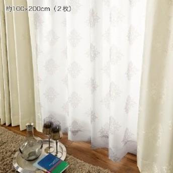 【99サイズ】オーナメント柄のボイルカーテン