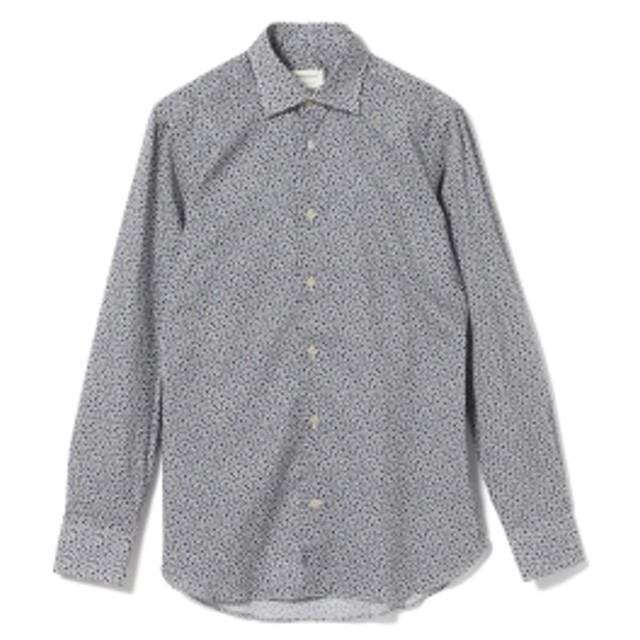 Brilla per il gusto Borriello / スモールフラワープリント セミワイドカラーシャツ メンズ カジュアルシャツ NAVY/4 42