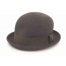 【中古】ブリクストン Brixton 帽子 ハット ボーラー ウール 無地 シンプル 60 茶 ブラウン /TT43 メンズ