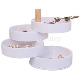 アクセサリートレー 4段 円柱型 回転式 アクセサリーケース ジュエリーケース 小物入れ ジュエリーボックス