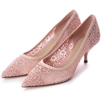 クロッシェ レース パンプス / Crochet Lace Pumps (Pink)
