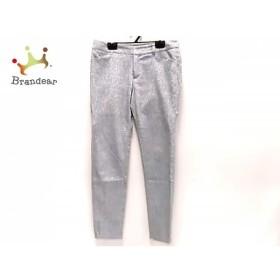 ジャスグリッティー JUSGLITTY パンツ サイズ2 M レディース 美品 ライトブルー 花柄     スペシャル特価 20190801