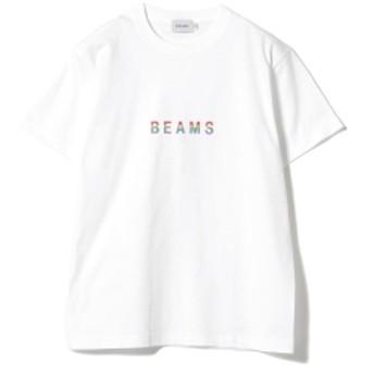 BEAMS / ロゴ Tシャツ 19SS メンズ Tシャツ WHITE XL