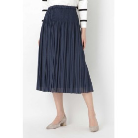 ◆ワッシャープリーツスカート ネイビー