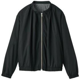 30%OFF【レディース】 ライトブルゾン(洗濯機OK) - セシール ■カラー:ブラック ■サイズ:L,LL