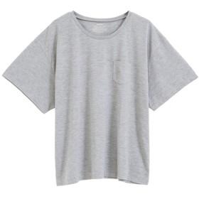 ユメテンボウ 夢展望 胸ポケットTシャツ (杢グレー(クルーネック))