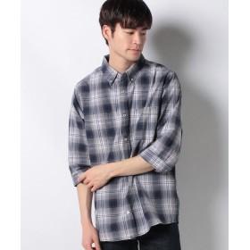 【36%OFF】 マルカワ 大きいサイズ シャツ 7分袖 ボタンダウン メンズ 柄5 5L 【MARUKAWA】 【タイムセール開催中】