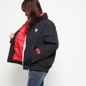 ダウンジャケット・ダウンコート - GUESS【WOMEN】 [GUESS] TRIANGLE LOGO DOUBLE-NECK DOWN JACKET