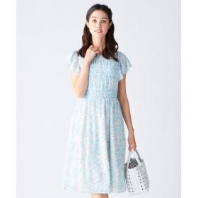【オンワード】 TOCCA(トッカ) 【洗える!】SPRING BOUQET ドレス スカイブルー 0 レディース 【送料無料】