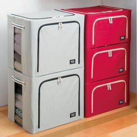 ベルーナインテリア 積み重ねができる収納ボックス同色組 ブラウン 浅型3個