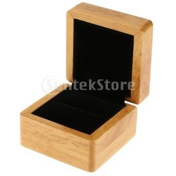 木製 ネックレス ブレスレット リング 収納 ボックス ベルベット ジュエリーボックス ギフト ケース
