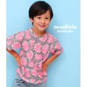 【セール開催中】ANAP KIDS(キッズ)サークルネオンロゴ柄Tシャツ