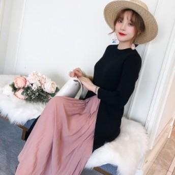 レディース    ワンピース     トレンド    カジュアル   韓国ファッション   人気   気質