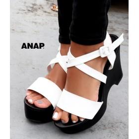 ANAP(アナップ)クロスストラップウェッジサンダル