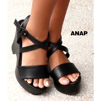【セール開催中】ANAP(アナップ)クロスストラップウェッジサンダル
