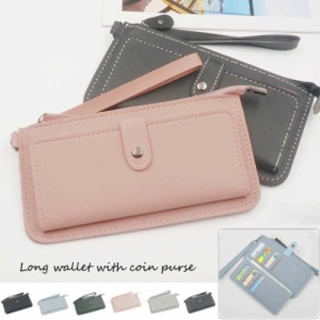 abaabdc3fa64 長財布 レディース/薄い財布 小銭入れあり/携帯も入る財布/大容量 カード収納 ...