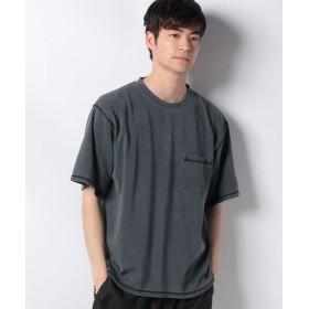 【40%OFF】 コエ ポンチ3本針ステッチピグメントTシャツ メンズ チャコールグレー M 【koe】 【セール開催中】