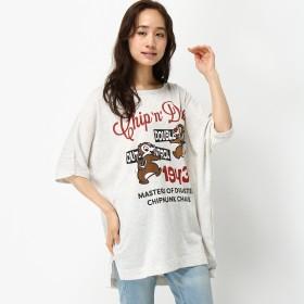 【チップ&デール】ガーゼミニ裏毛ドルマンゆったりビッグTシャツ