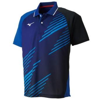 MIZUNO SHOP [ミズノ公式オンラインショップ] ゲームシャツ(卓球)[ユニセックス] 25 リフレックスブルー 82JA9007