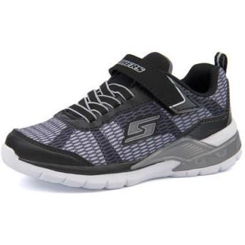 キッズ SKECHERS(スケッチャーズ) S LIGHTS ERUPTERS 2 - LAVA WAVE【光る靴】(Sライツイラプラー2ラバウェーヴ) 90553L BKSL ブラック/シルバー運動靴 スニーカー ボーイズ