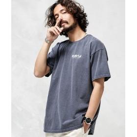 ナノ・ユニバース KAVU:別注FRUIT OF THE LOOM ピグメントTシャツ メンズ ネイビー S 【nano・universe】