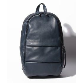 パトリックステファン Leather backpack 'round double F' メンズ ネイビー F 【PATRICK STEPHAN】