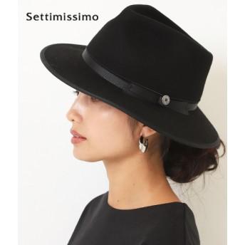 Settimissimo セッティミッシモ ウールコンチョ付き中折れハット