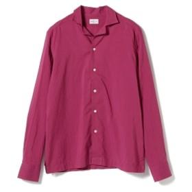 BAGUTTA / コットンソリッド オープンカラーシャツ メンズ カジュアルシャツ BORDEAUX/040 M