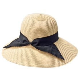 50%OFF折りたためる帽子(UVカット) - セシール ■カラー:ベージュ