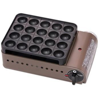 イワタニ CB-ETK-1 ブロンズ&ブラック スーパー炎たこ [カセットガス式 たこ焼器 ] その他調理家電