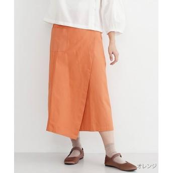メルロー Iラインコットンラップスカート レディース オレンジ FREE 【merlot】