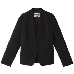 SALE 【30%OFF】 MAISON SPECIAL メゾン スペシャル トリアセコットンノーカラージャケット BLK(ブラック)