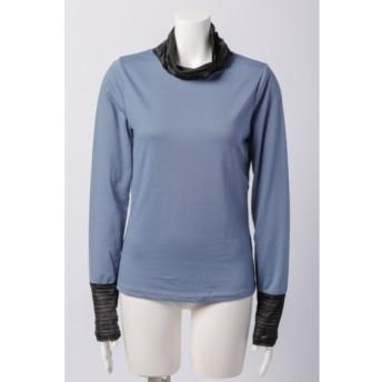 71%OFF odds on complex (オッズオンコンプレックス) タートル 衿、袖口プリーツ 長袖Tシャツ サックス