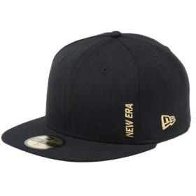 ニューエラ(NEW ERA) キャップ 59FIFTY エッセンシャル バーチカルロゴ 5950 ESSENTIAL MINI ブラック×メタリックゴールド 11899307 帽子 アクセサリー