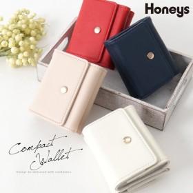 財布 ミニ財布 レディース かわいい 三つ折り プチプラ 人気 おすすめ コインケース 札入れ ウォレット Honeys ハニーズ コンパクトウォレット