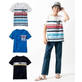 綿100%フロントプリント半袖Tシャツ3枚組(男の子 子供服。ジュニア服) Tシャツ・カットソー