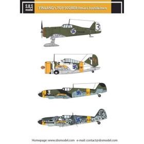 1/72 フィンランド空軍 撃墜王 イルマリ・ ユーティライネン 乗機デカール[SBS]《在庫切れ》
