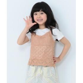 BEAMS mini / ニットキャミセットTシャツ 19s (90~150㎝) キッズ その他カットソー SAND BEIGE 90