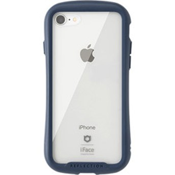 [iPhone 8/7専用]iFace Reflectionハイブリッドガラスケース(ネイビー) 41-907122