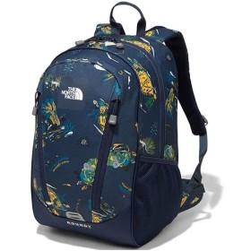 ノースフェイス(THE NORTH FACE) キッズ バックパック ラウンディ K Roundy モダントワルネイビープリント NMJ71801 MT デイパック リュックサック バッグ 鞄
