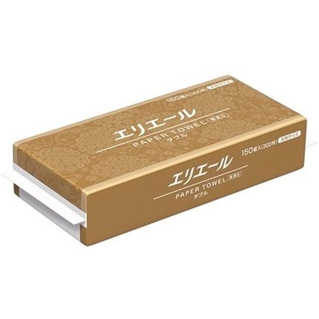 アズワン ペーパータオル(無漂白ダブル大判)2枚重ね 230×248mm 300枚×25袋 [2-8302-01]