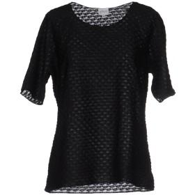 《期間限定 セール開催中》ARMANI COLLEZIONI レディース T シャツ ブラック 44 ポリエステル 100%