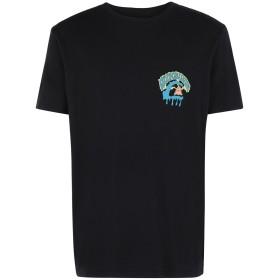 《期間限定セール開催中!》QUIKSILVER メンズ T シャツ ブラック S コットン 100% QS T-shirt Phantasy Land SS