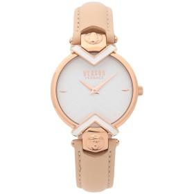 《送料無料》VERSUS VERSACE レディース 腕時計 ベージュ ステンレススチール / 革 MABILLON