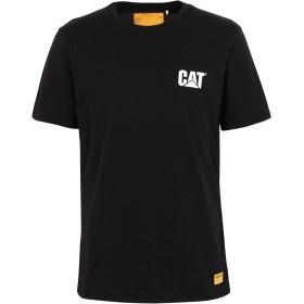 《期間限定セール開催中!》CATERPILLAR メンズ T シャツ ブラック S コットン 100% CAT SMALL LOGO TSHIRT