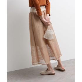 OZOC(オゾック) [洗える]メッシュロングスカート